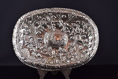 Solid silver tray. Spain, 18th-19th centuries.