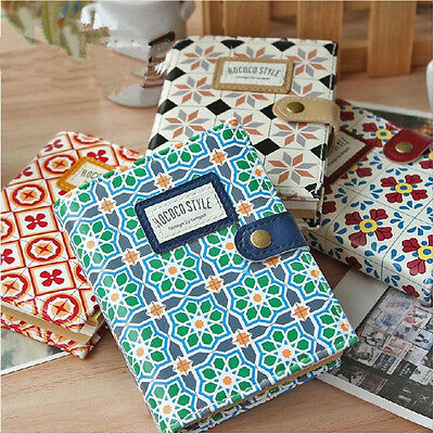 """""""Rococo"""" 1pc Travel Journal Diary Pocket Notebook Blank Kraft Paper Faux Leather"""