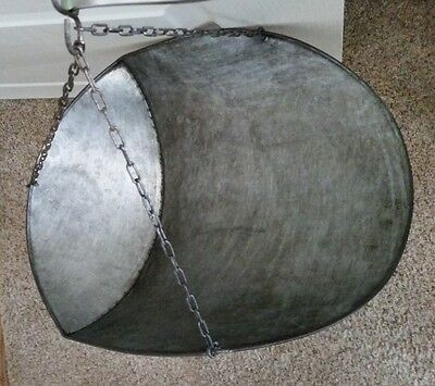 Hardware Store Antique Vintage Galvanized HANGING SCALE SCOOP PAN with Chains