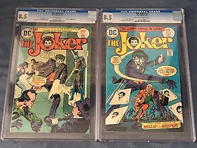 The Joker DC Comics #1 And #2 Both CGC Graded 8.5