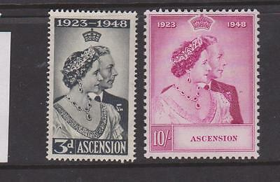 Ascension 1948 Silver Wedding Pair Mounted Mint