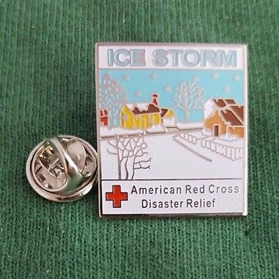 """2006, """"ICE STORM"""" pin of the American Red Cross"""