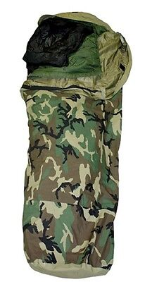 US Army MSS Outdoor Goretex Sleeping bag System Schlafsack Woodland camouflage