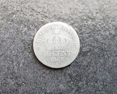 Pièce argent 50 centimes 1868 Napoléon III (French silver coin)