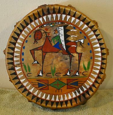 My Favorite Pony/Native American Drum Painted by Lakota Artist Sonja Holy Eagle