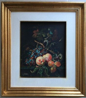 Original Oil Painting On Canvas Still Life Signed Naronq
