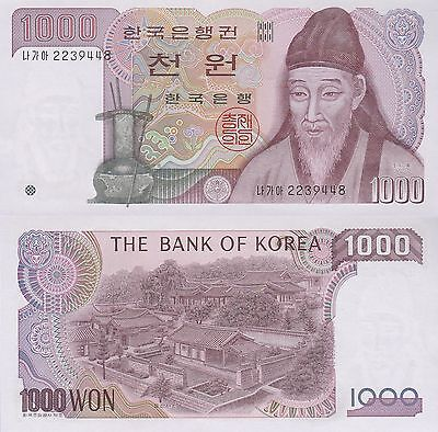 South Korea 1000 Won Banknote,(1983) Uncirculated Condition Cat#47