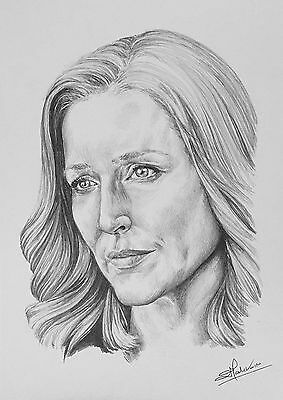 Original pencil drawing - Dana Scully (Gillian Anderson) X-Files fan art