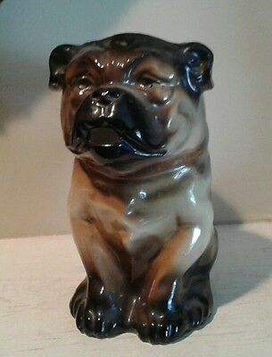ANTIQUE GERMAN PORCELAIN PUG Dog Pitcher Jug Bayreuth Style