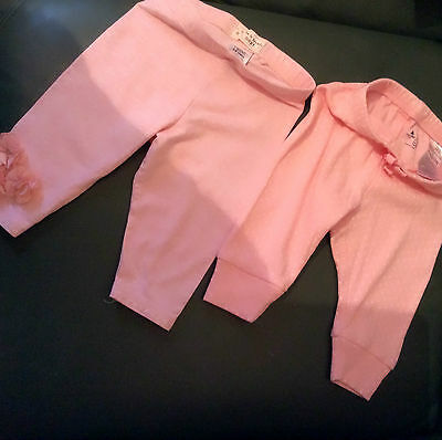2 pairs of baby girl leggings from next