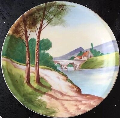 Very Large Signed And Hand Painted Charger Plate