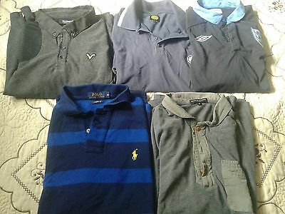 5 x mens t shirt bundle size M - Ralph lauren/lyle n scott + others