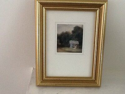Framed Picture Of Lady In The Garden