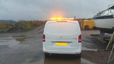 1200mm LED LIGHT BAR BEACON AMBER WITH  WHITE TAKEDOWN AND ALLEY LIGHTS