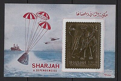 K74) Timbre/Bloc OR/GOLD Neuf**MNH SHARJAH & DEPENDENCIES Historic of Space
