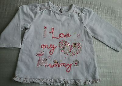 GEORGE,  Baby Girls Long Sleeved Top.  Age 3-6 months.
