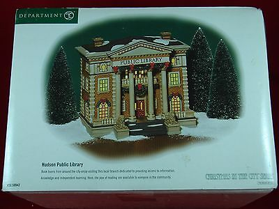 Hudson Public Library 2002 Christmas In The City Series Heritage Village NICE