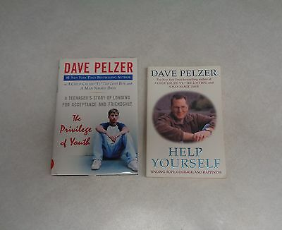 Dave Peltzer Lot of 2; The Privilege of Youth and Help Yourself; 1 HC, 1 PB