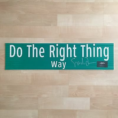 Do The Right Thing Street Sign - Signed Autographed By Spike Lee