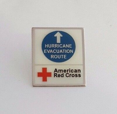 """2005, """"HURRICANE EVACUATION ROUTE"""" pin for the American Red Cross"""