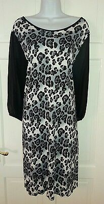 NEW Lovely Black and White Animal Print Summer Dress from NEXT size 24