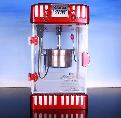 RED MOVIE THEATER  Classic Popcorn Maker working good