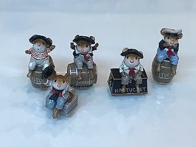 "Wee Forest Folk ""Jolly Tar Sailors"" AWESOME SET OF 5!"