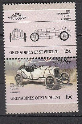 H137) Timbres Neufs MNH (Mercedes-Benz 1914) BEQUIA-GRENADINES/CARS-AUTOMOBILES