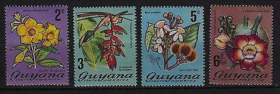 U92) x4 TIMBRES stamps (Neuf**MNH TBE)  Flowers FLeurs GUYANA