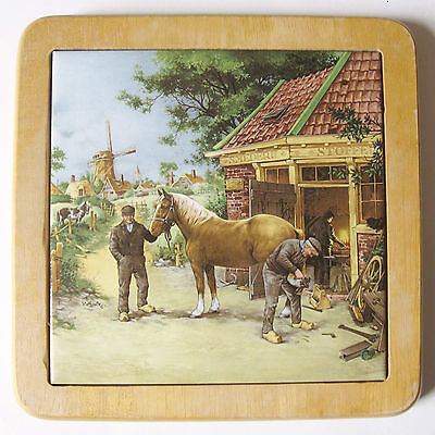 Blacksmith ROYAL MOSA Tile Wall hanging by Ter Steege, Holland - Framed