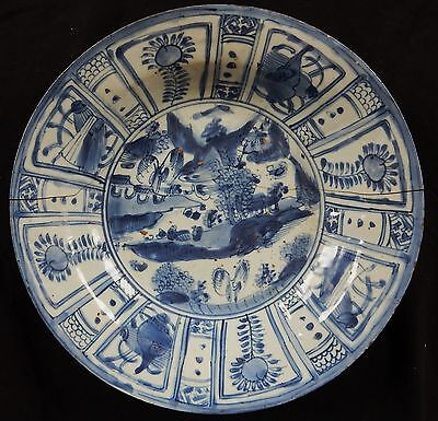 Grand plat 18ème Porcelaine de Chine (bleu) Blue-China