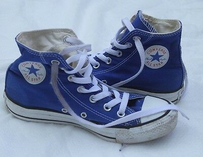 Youth Converse Chuck Taylor All Star Royal Blue Shoes High Top sneakers size 4