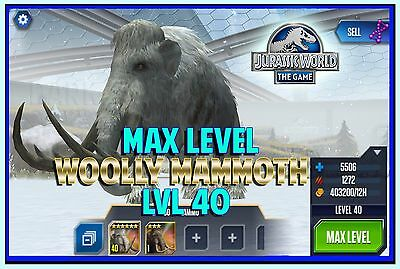 Jurassic WORLD The Game Builder MAX LEVEL WOOLLY MAMMOTH unlock Android iOS park