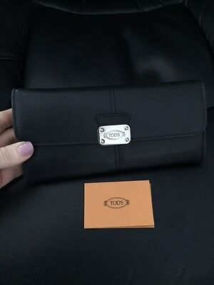 Tod's Wallet Ladies Black