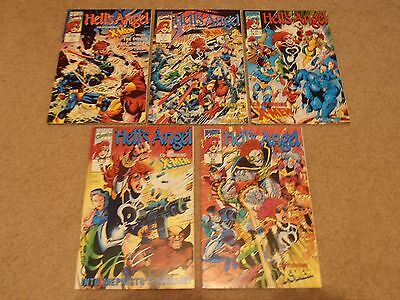 Hell's Angel lot set #1-5 Marvel Comics co-starring X-Men Wolverine 1 2 3 4 5