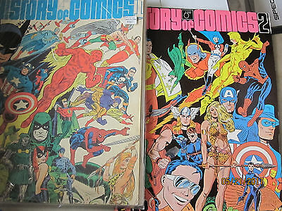 LOT  The Steranko History of Comics, Volume 1& 2 Paperback – 1970