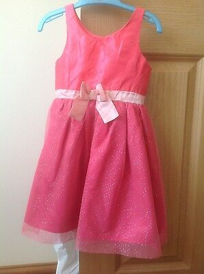 H&M pink Girls sparkly Dress aged 3-4 years