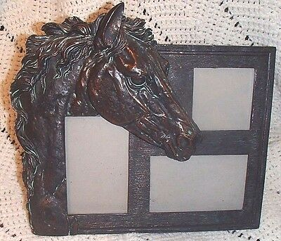 Extreme Horse Bronze Finish Picture Frame Equestrian Beautiful Multi Frame