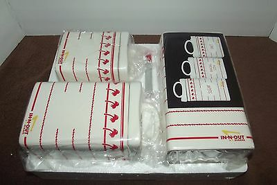 In-N-Out Burger Kitchen Canister Set Brand New In Box Rare L@@k!!