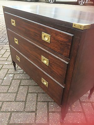 Antique Oak Military/Campaign Style Chest Of Drawers With brass Handles,vintage