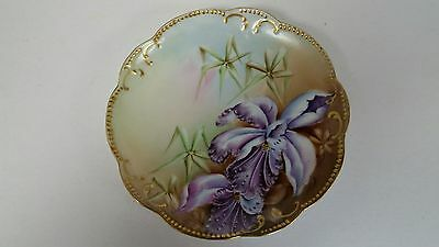 Antique Limoges A Klingenberg Hand Painted Orchids Plate