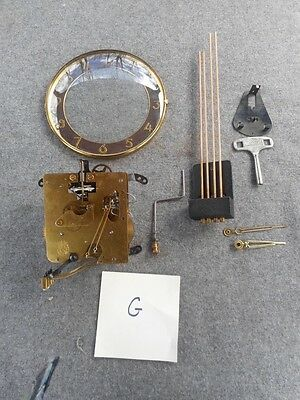 Vintage Hermle Clock Movement Chimes & Face for Parts or Repair