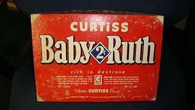 1950's Curtiss Candy 2 Cents Baby Ruth Candy Bar Box Chicago