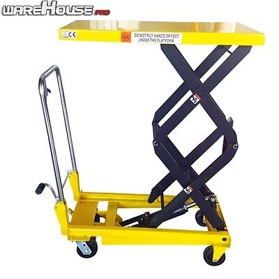350KG NEW Manual Scissor Lift Table -Table Size 910x500mm-Table Height 1300mm