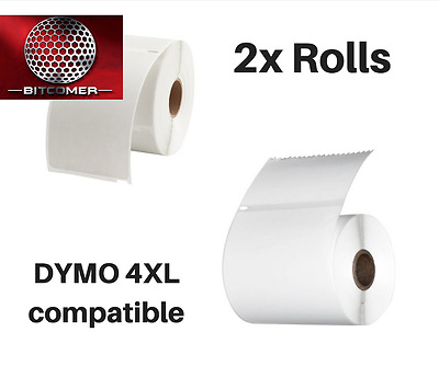 DYMO 4XL Direct Thermal Shipping Labels 4x6  2 JUMBO rolls 1744907 compatible