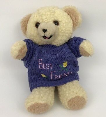 "vtg SNUGGLE plush bear Stuffed animal Lever Brothers Advertising 10"" 1997 sweate"