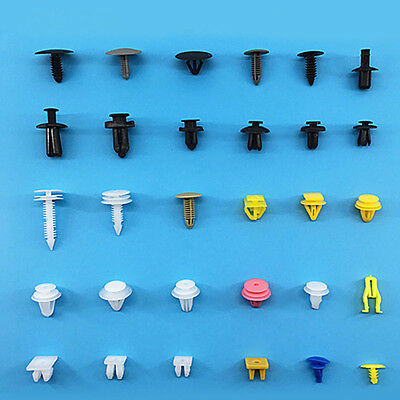 200x Auto Car Various Plastic Rivet Fasteners Push Pin Bumper Fender Panel HOT