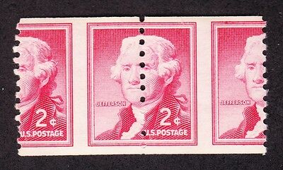 US 1055 2c EFO Misperf Pair Error OG NH (007)