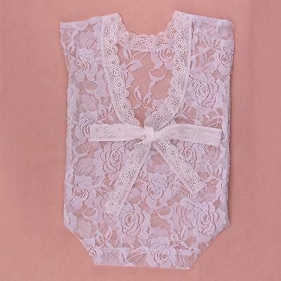 Newborn Baby Girls Lace Romper Jumpsuit Bodysuit Photography Photo Props Costume