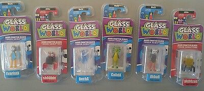 Wholesale lot of 6 Glass Limited Edition Mini Torch Sculptures New